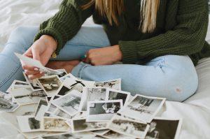 family photos, journaling, family history