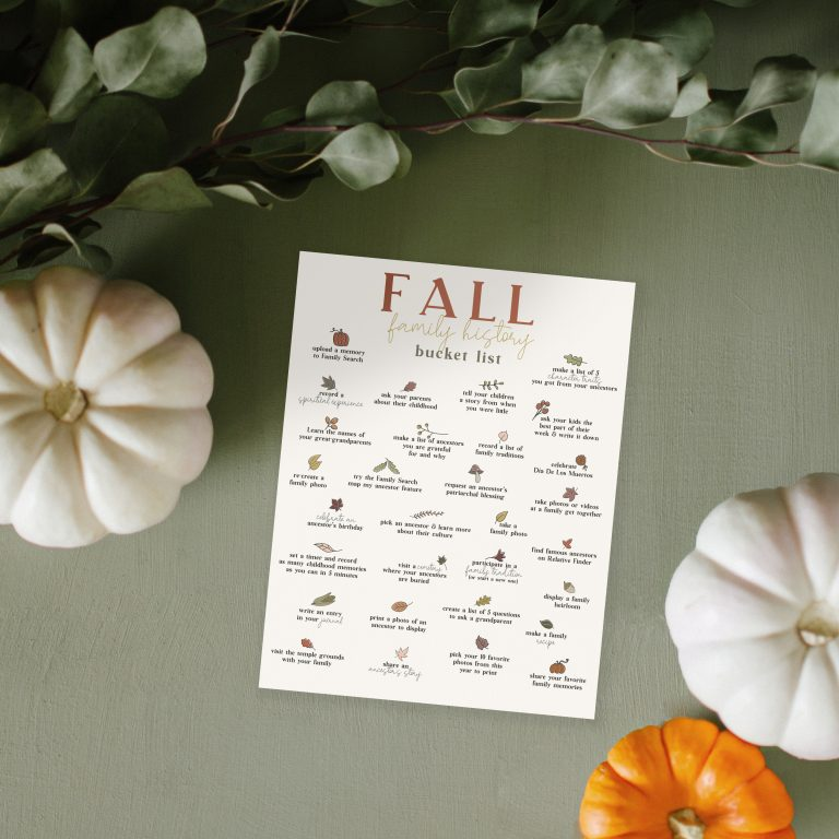 Fall Family History Bucket List